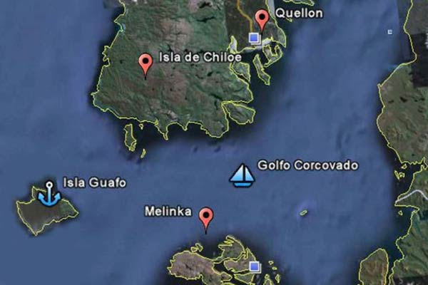 isla guafo mapa