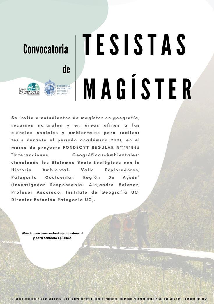 convocatoria tesistas magister afiche